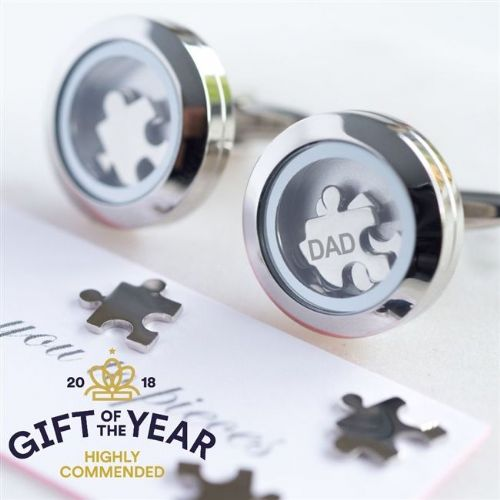 Dad 'I Love You To Pieces' Cufflinks